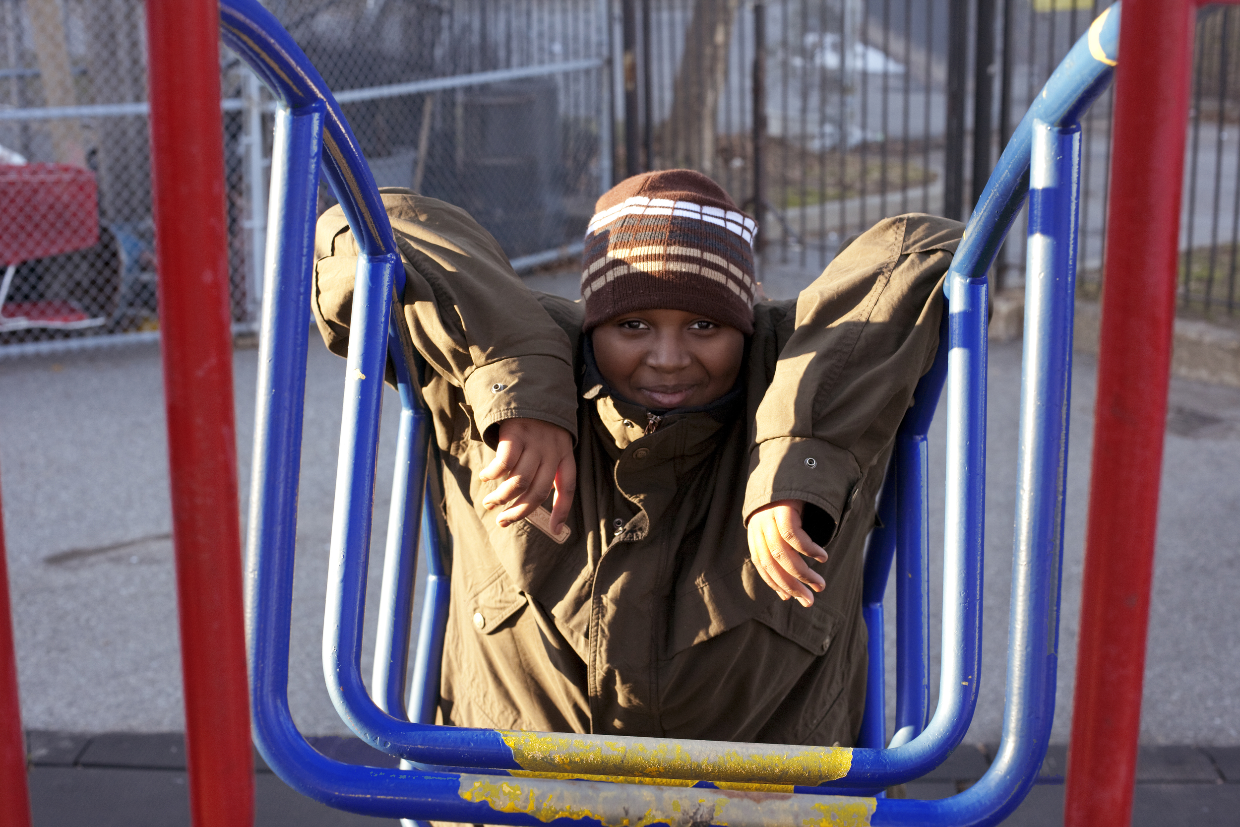 Abdoul at the playground.