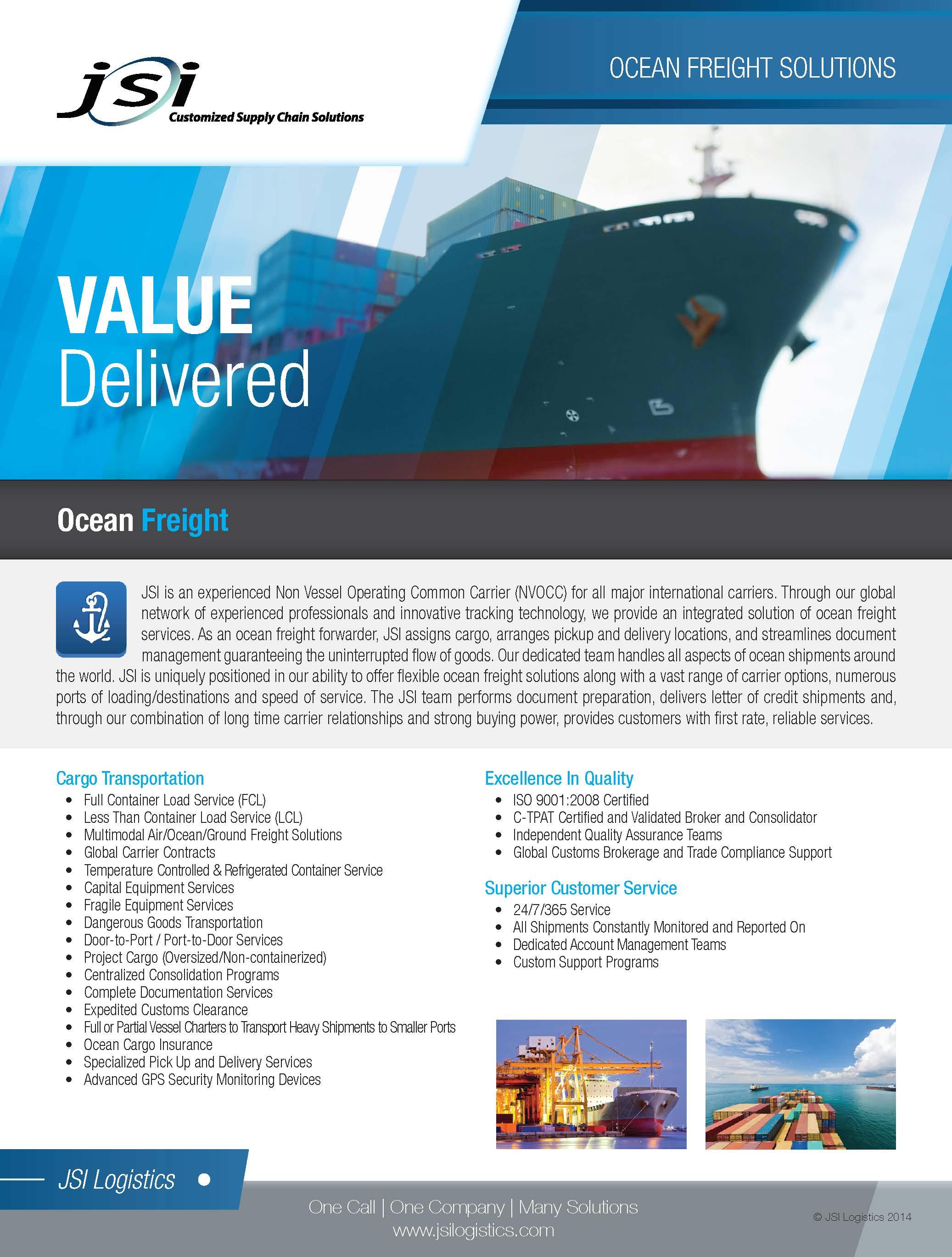 Ocean Freight Services Flyer