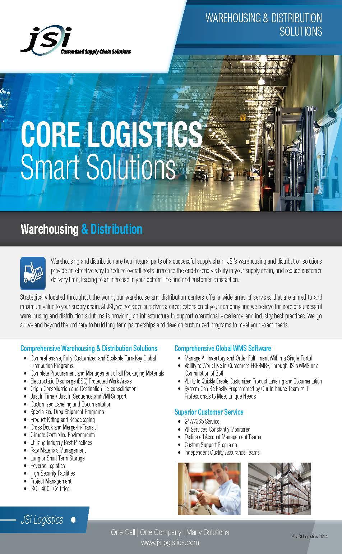 Warehousing & Distribution Solutions Flyer