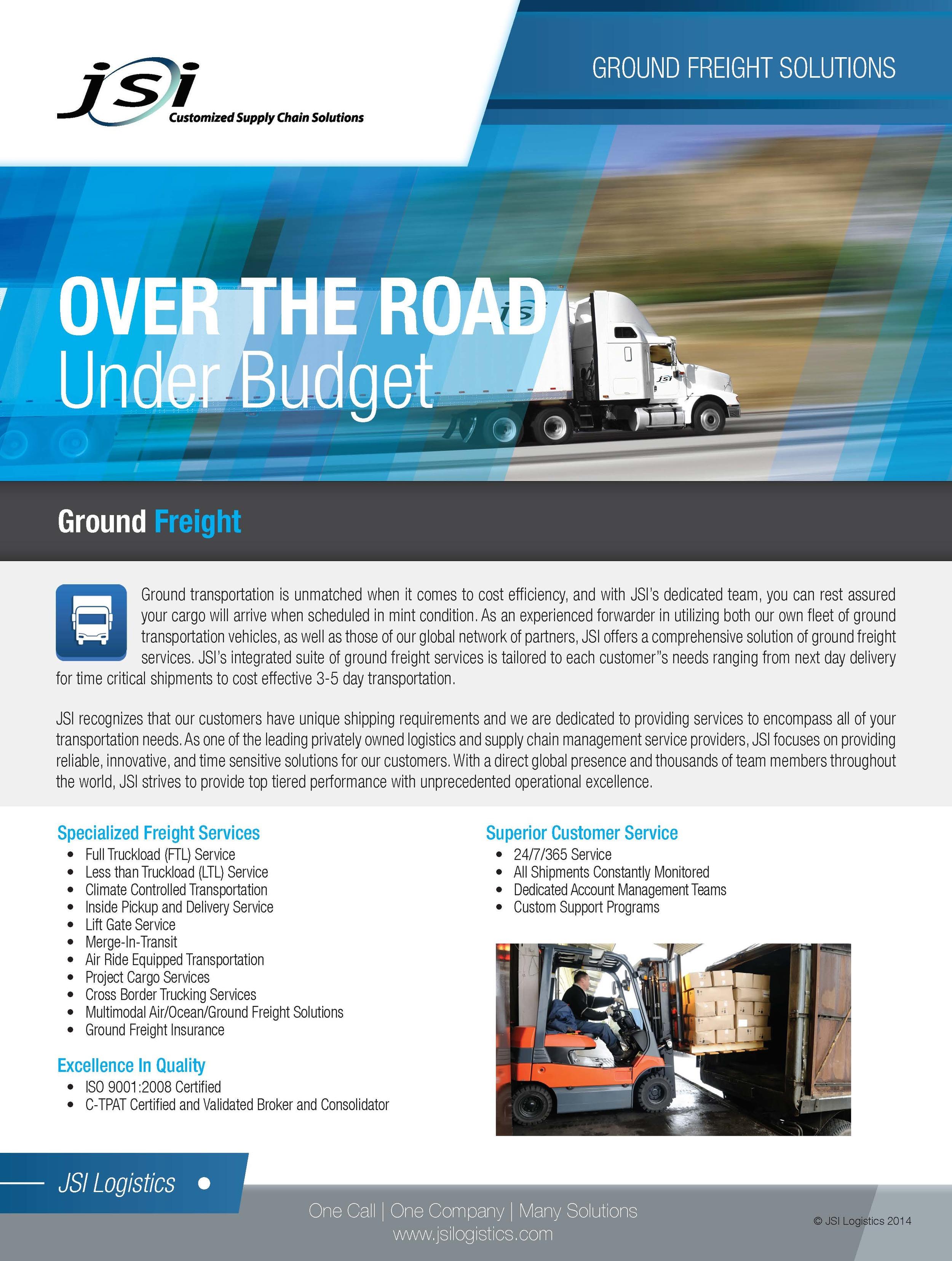 Ground Freight Services Flyer