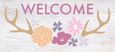 Welcome + Floral Antler