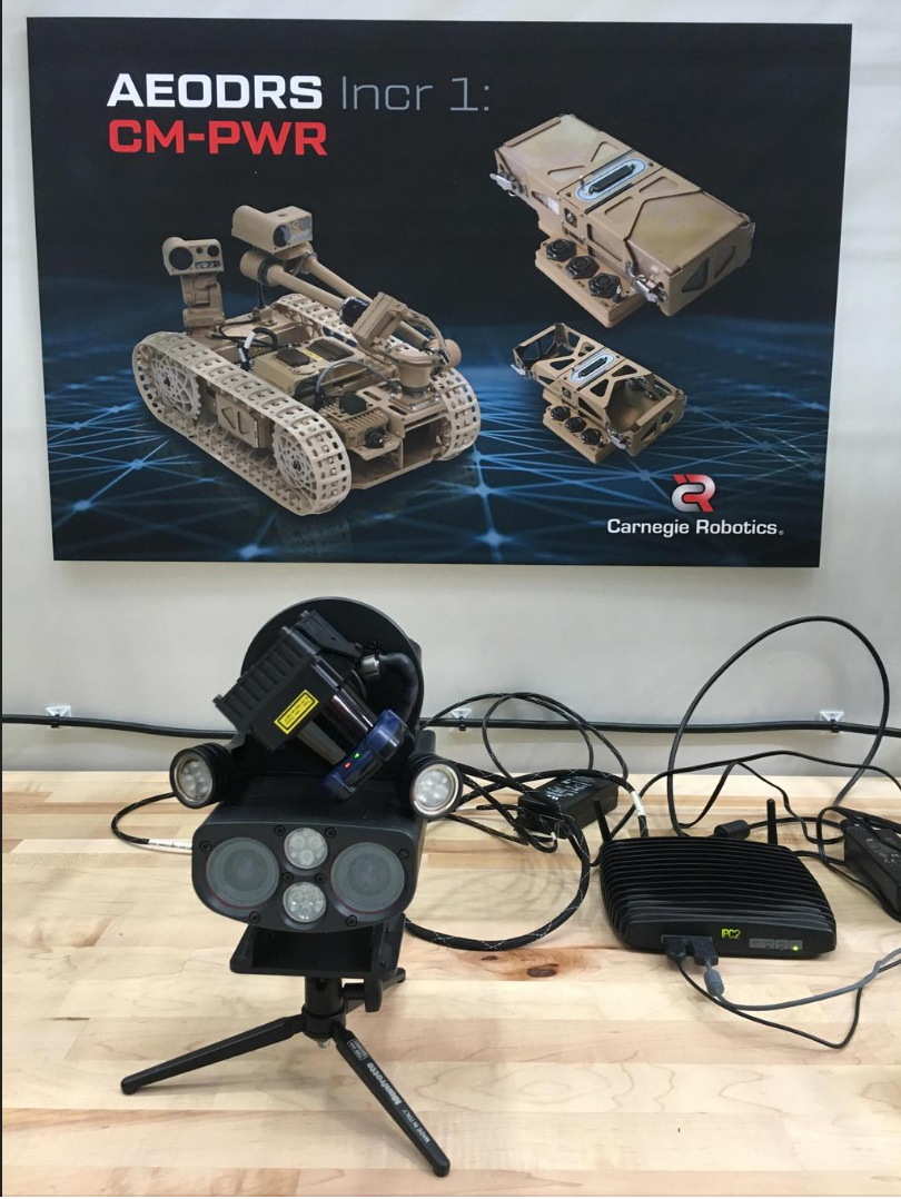 Carnegie Robotics was showing off its MultiSense SL, a robot-first 3D sensor that has been used for a wide variety of robotic applications including the DARPA Robotics Challenge, mine mapping, and autonomous robots that spray nitrogen in corn fields.