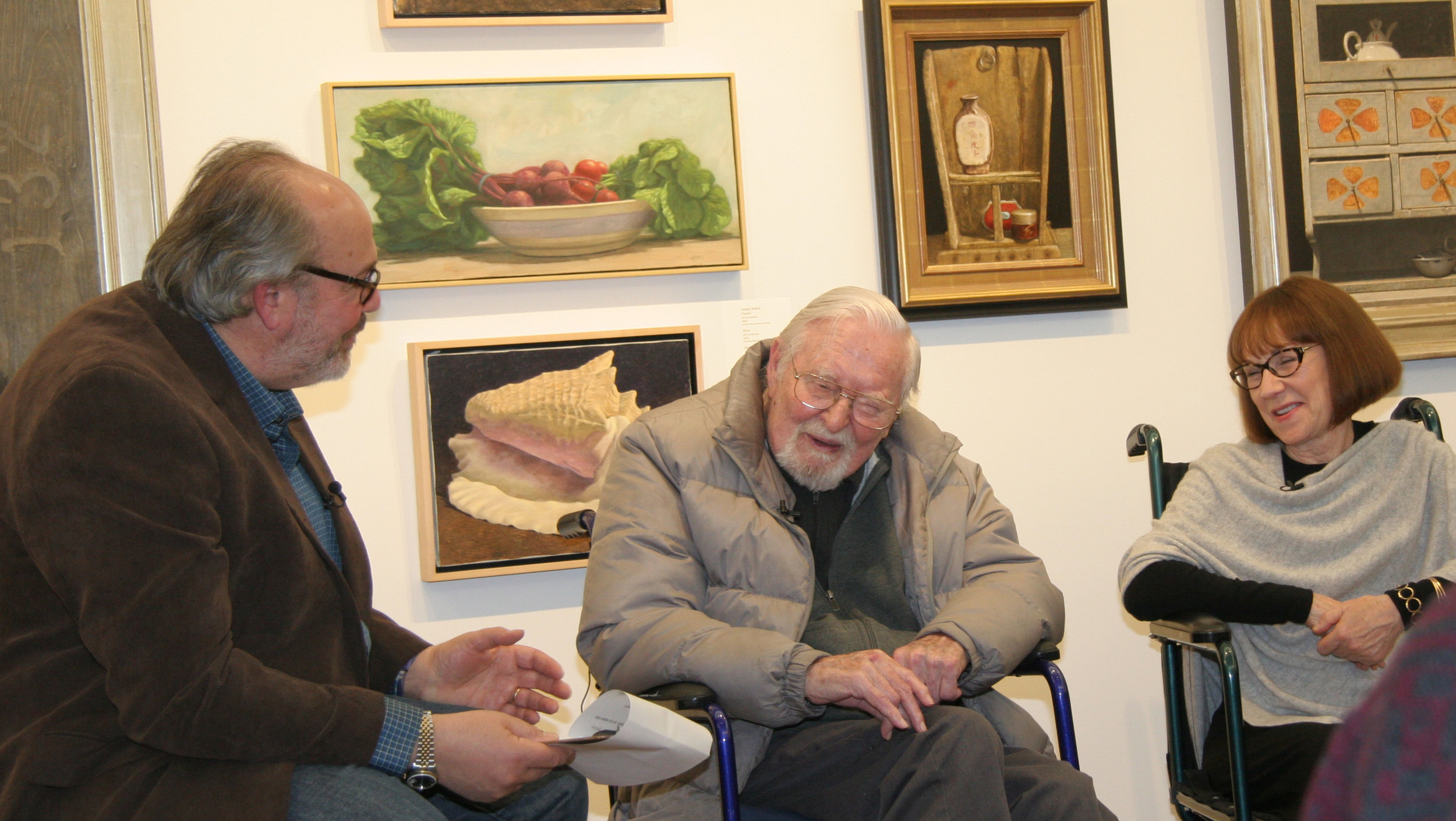 Doug Reina interviewing Ken Davies with Jo-Anne Scavetta
