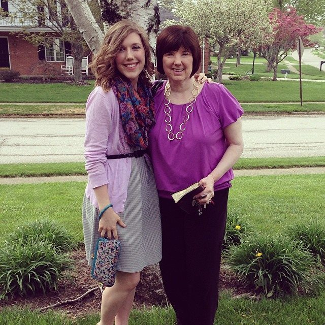 Mother's Day, 2014. The day I told my mom I was pregnant with our first baby!