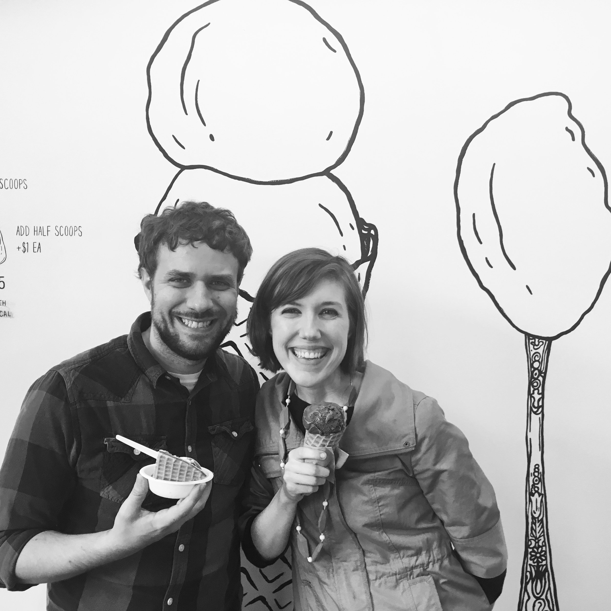 On our marriage getaway weekend at Jeni's in Columbus!