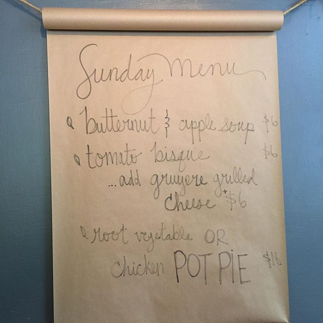 Specials! Remember we are open for supper Sunday!