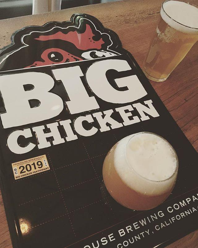 It's here!!! BIG CHICKEN on tap from the amazing @henhousebrewing masters. Come get this. #henhouse #iipa #bigchicken #beerweek #petaluma #santarosa #123bolinas #sfbeerweek