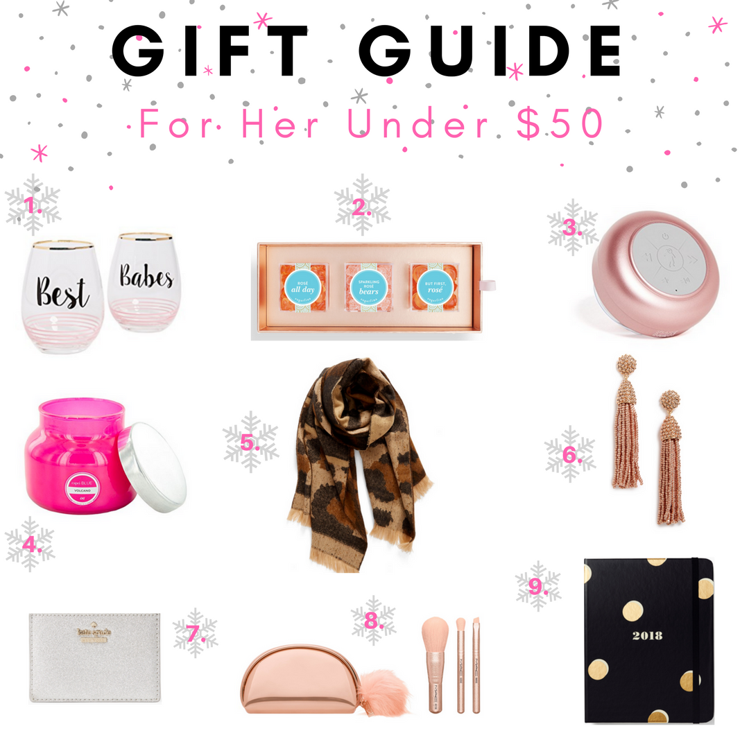 holiday gift guide for her $50