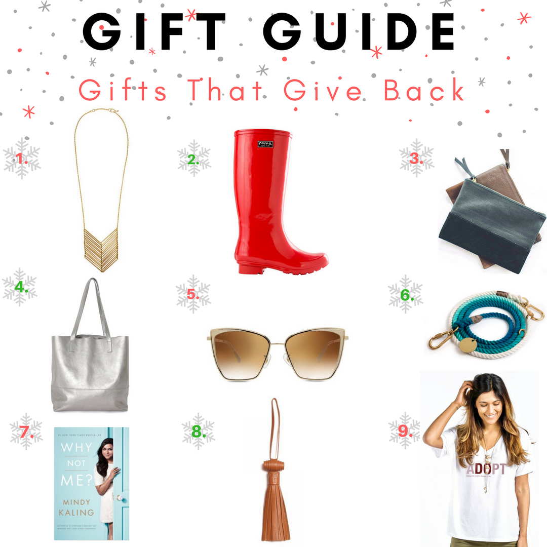 Holiday Gift Guide: Giving Back