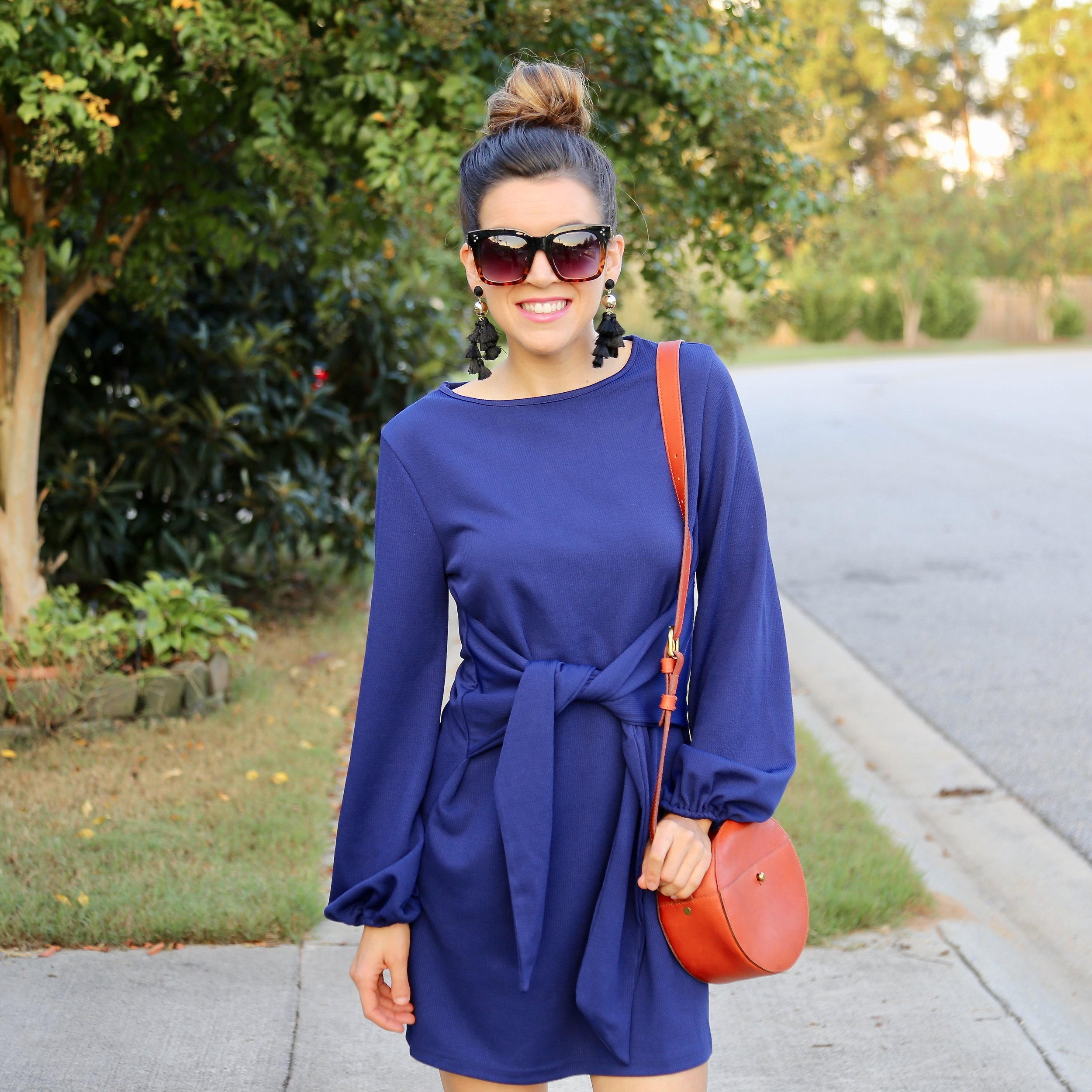blue amazon dress