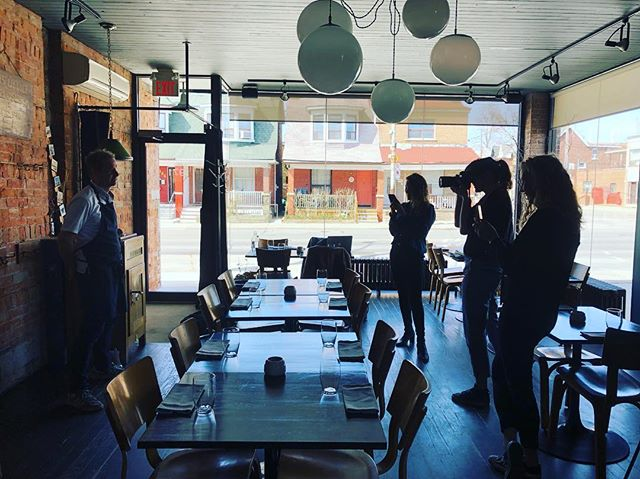 Spent the day with @transparentkitchen yesterday. Chef's been working on his blue steel... #actinoliterestaurant #transparentkitchen #newphotos #springmenu