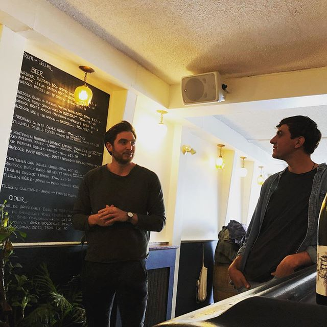 Masterclass with @weingut_brand this afternoon @paradisegrapevine - inspiring young men who have converted the family estate to organics and make approachable, fresh, low ABV wines. Keep your 👀 peeled for them on our list this summer! #patiowine #shakeandwait #drinkfromthebottle #naturalwine #actinoliterestaurant