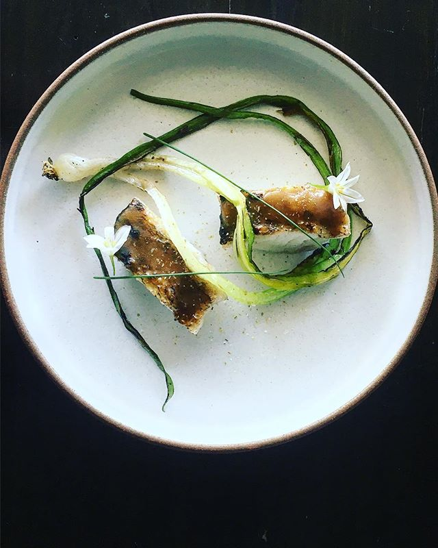 Pickerel and Wild Onion from last month #actinoliterestaurant #eatwithyour👐
