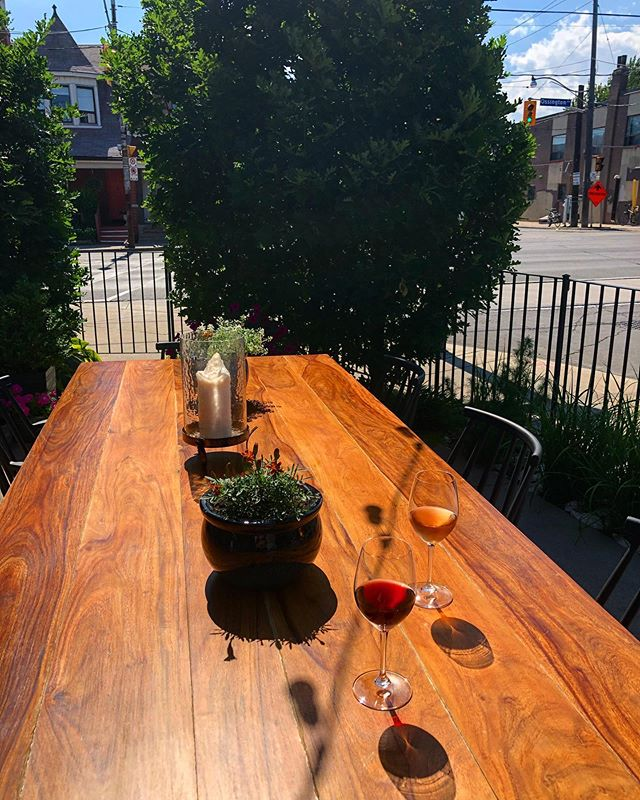 It's a gorgeous day and the patio is open tonight! Pop in for dinner, a quick 'neighbourhood menu', or just a nice glass of wine. 🥂🌈☀️🌸🌿🌳 #actinoliterestaurant #neighbourhoodjoint #ossington #naturalwine #organicveggies