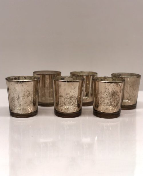 COPPER MERCURY GLASS VOTIVES