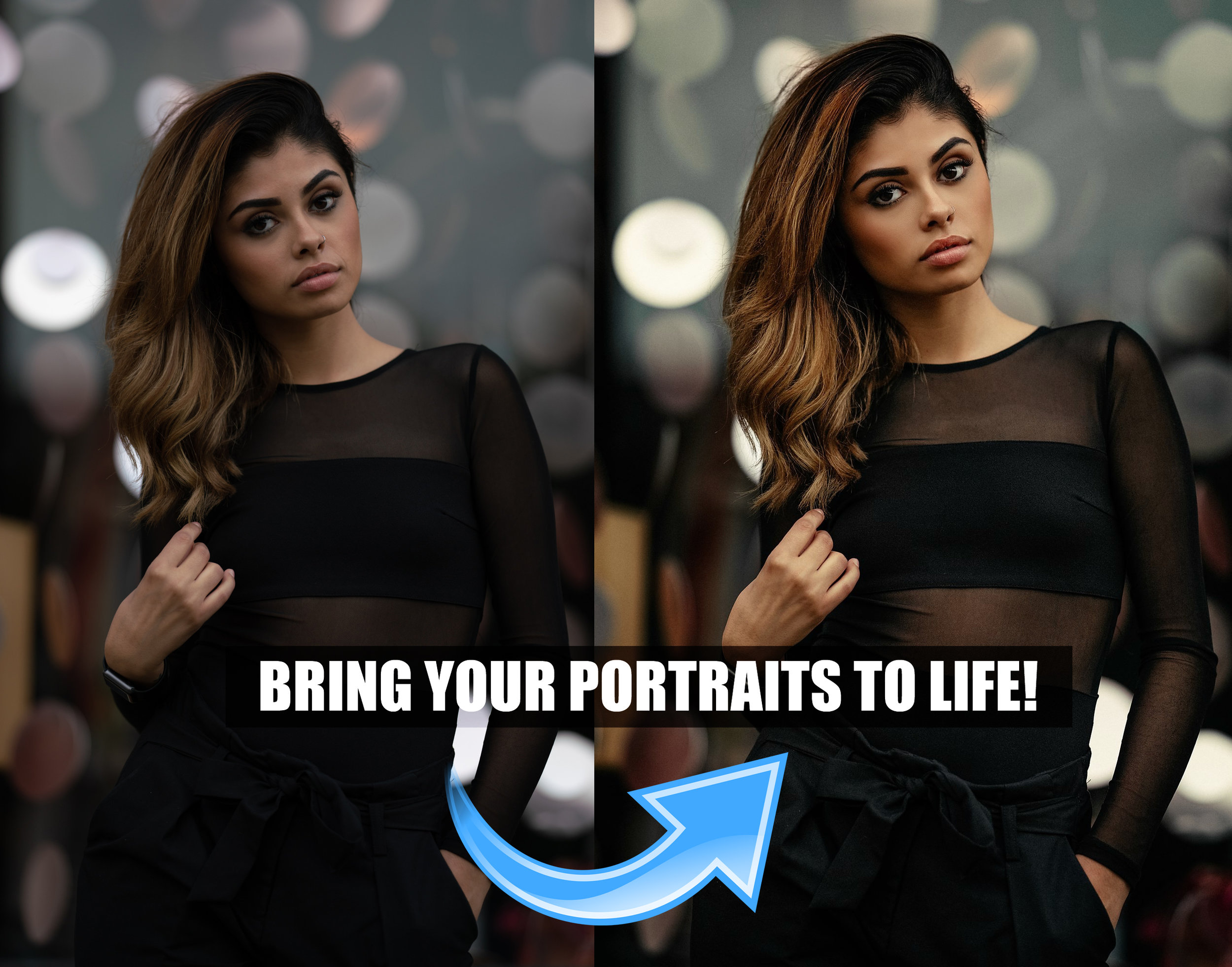 My process is easy to learn and perfect for beginners - or anyone who doesn't have much experience retouching portraits