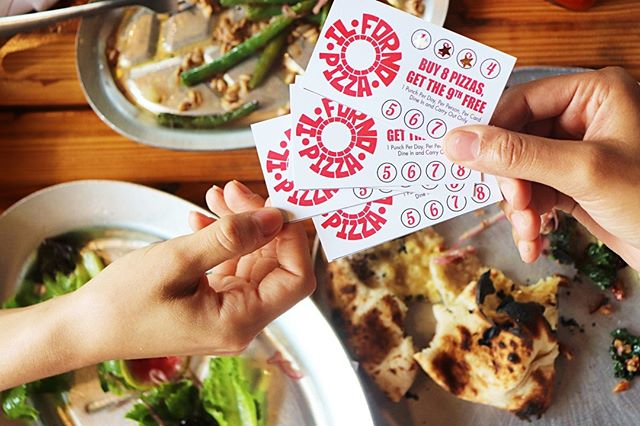 Don't forget to grab one of our punchcards on your next pizza break! 🍕  #ilforno #localpizza #satx #punchcards