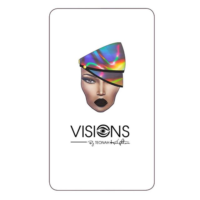 FRONT SIDE: GRAPHICS @teonah new b.cards  #designer #fashion #graphicdesign #milliner #hats #accessories #melanin #visions #visionsbyteonahknighton #teonahknighton #headwear #artist #creator #visionary #style #yellow #custom #bosslady