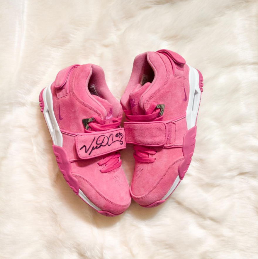 Sneaker Room , NJ - raised 80k+ with these limited to 50 pairs. Beautiful shoe for a beautiful cause.