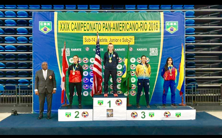 ISKC's Magdalena Zucek places 1st Place in 14-15 year old female kumite +54kg division