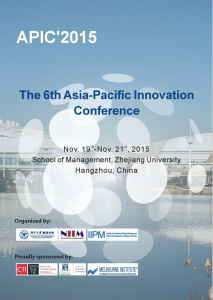 Click here for the APIC 2015 Program