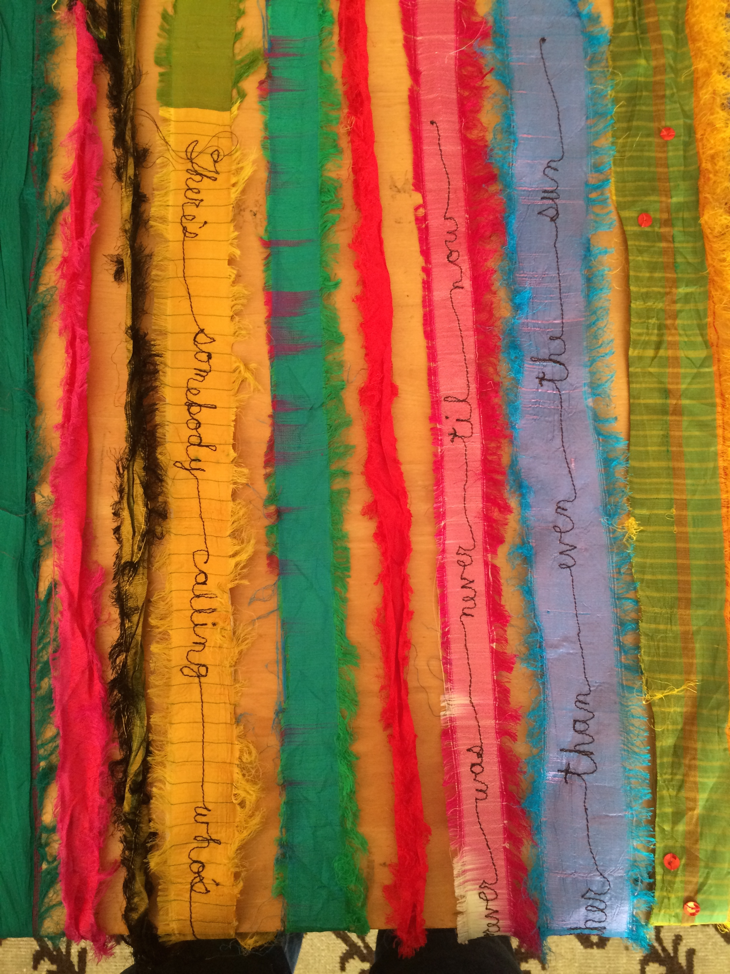 Prayer Flag (text detail)