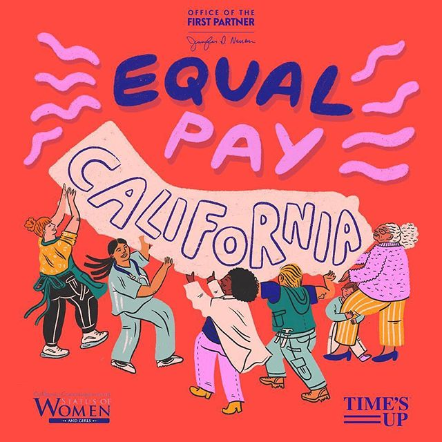 This Equal Pay Day, I got to collaborate with CA's First Partner @jennifersiebelnewsom and @timesupnow on this piece. The First Partner's office is launching an awareness campaign about the pay gap, aiming to educate employers, employers, and unions about the issues (and how to advocate for equal pay as an employee). The gender pay gap is REAL, and it affects women/gnc people of color at different rates. Here's a reminder that for a white cis man's dollar, White women make 77 cents, Asian women make 85 cents, Black women make 61 cents, Native women make 58 cents, and Latinx women make 53 cents (Stats from Pew Research). Over an average 40 yr career, this can cost a woman between $400,000-$1M in lost income.