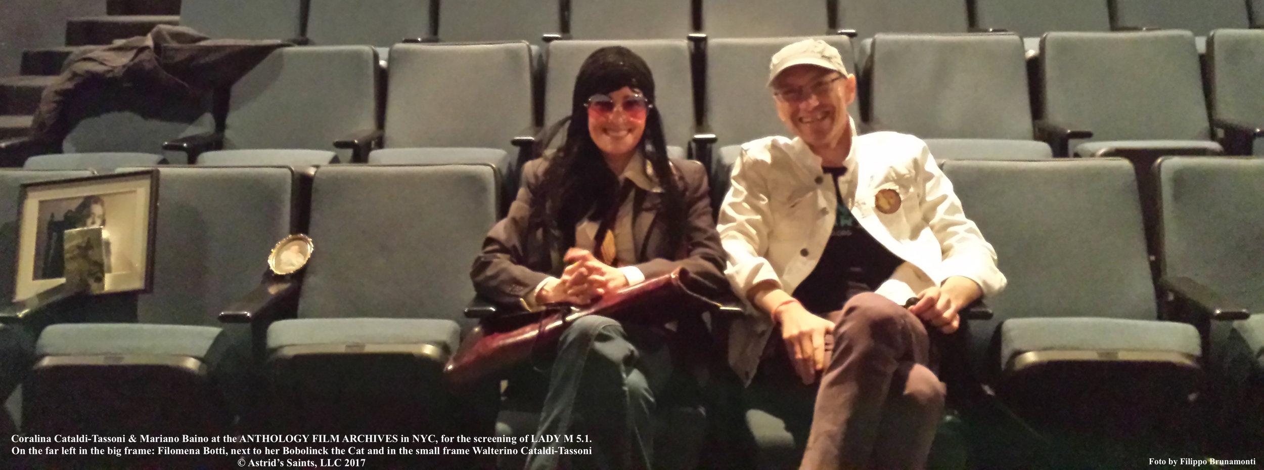 Coralina Cataldi-Tassoni and Mariano Baino at the LADY M 5.1 screening at The Anthology Film Archives May 6th 2017 4.jpg