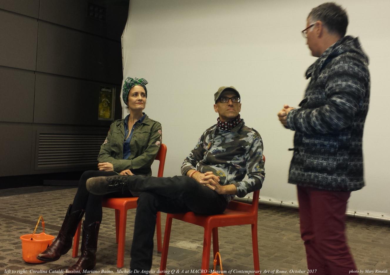 Coralina Cataldi-Tassoni, Mariano Baino, Michele De Angelis at MACRO Oct.2017.jpg