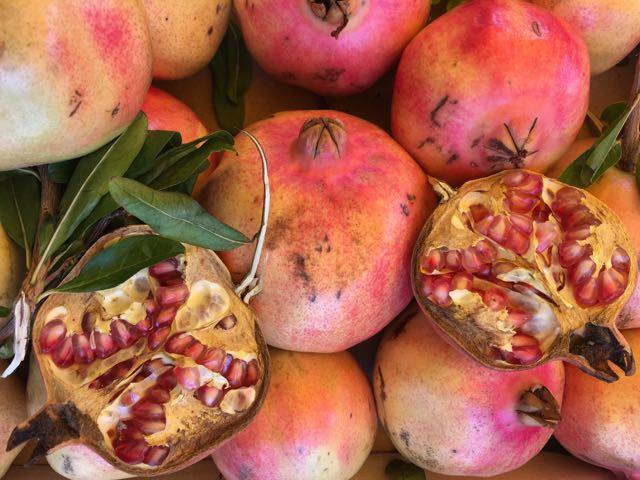 Pomegranates from Puglia     Photo ©Evie Saffron Strands