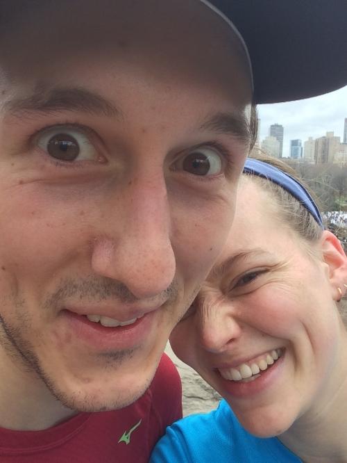 Central park run selfie - pre-green juice & cookies