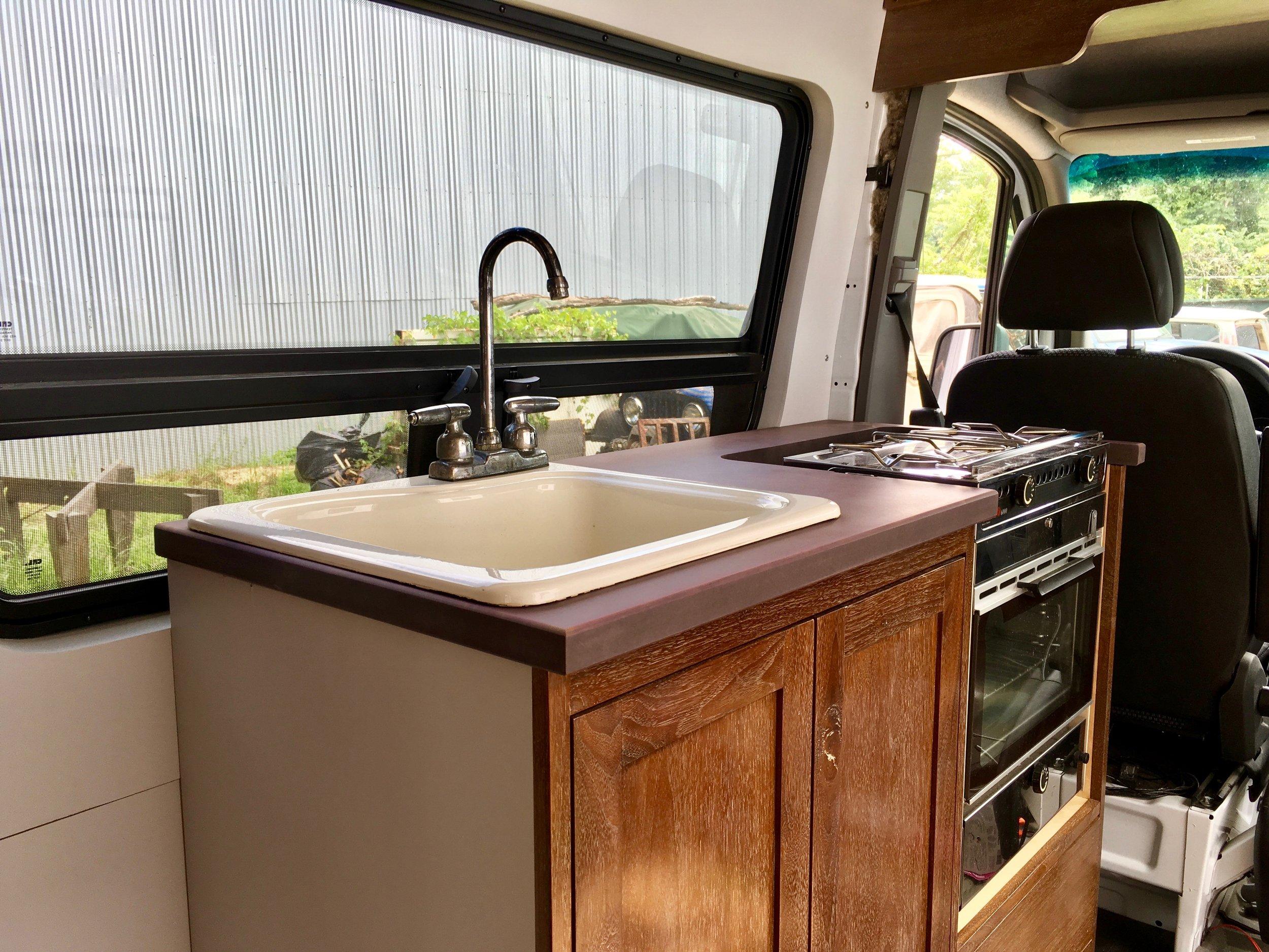 Original kitchen design with faucet and Origo 6000