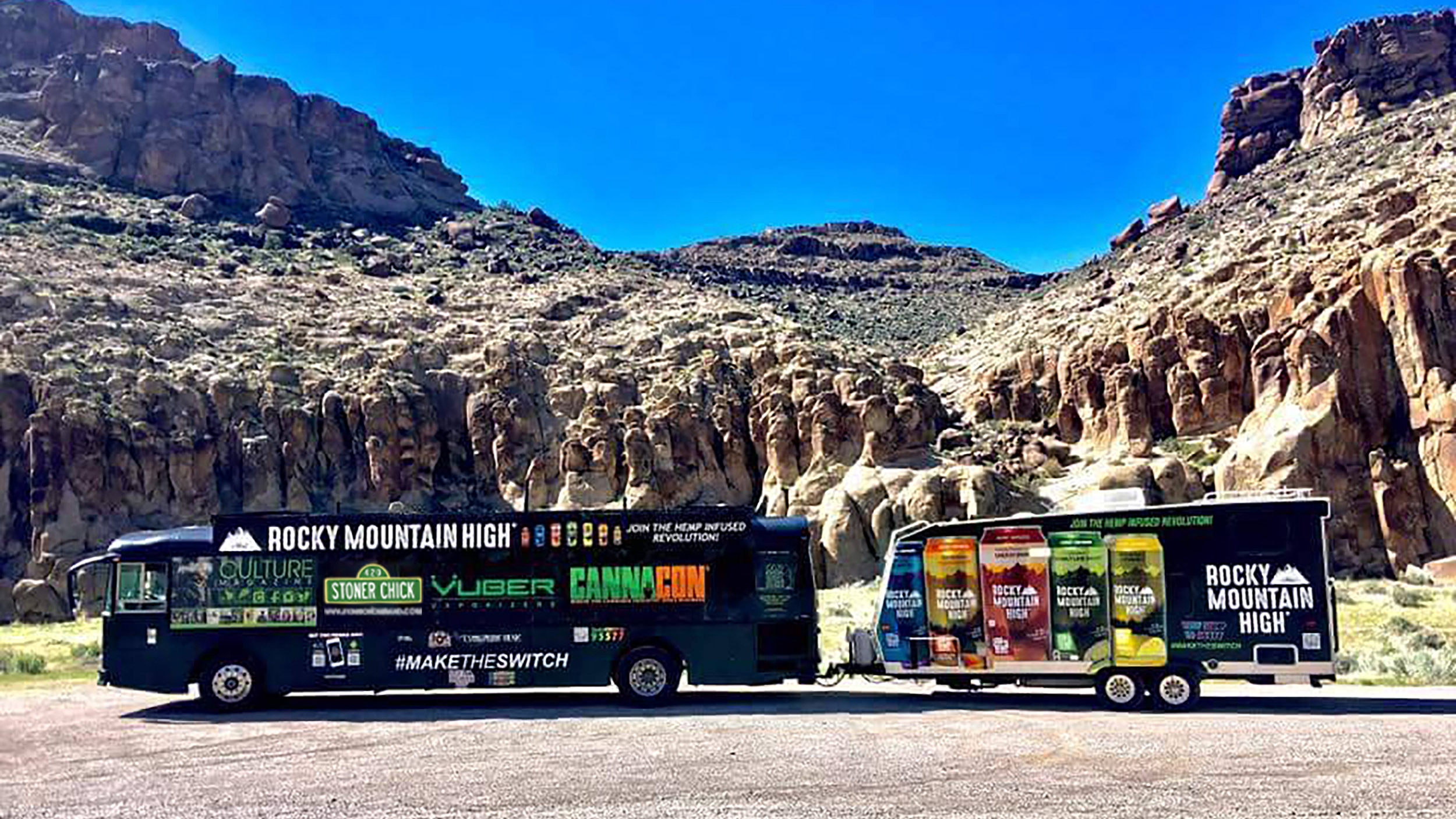 event tour exposure - We have three fully customized tour buses with room for your mobile advertising needs. Whether it's from our seasonal tours or a trip to Seattle Hempfest or even the Superbowl, we can rep your brand on the road with us to every event.