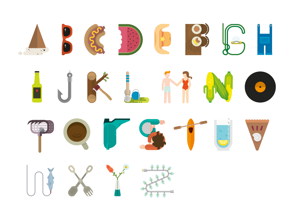 Summer Fun Alphabet