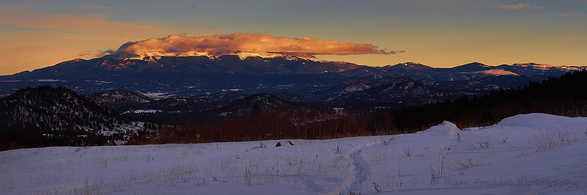 Sunset Clouds On Pikes Peak