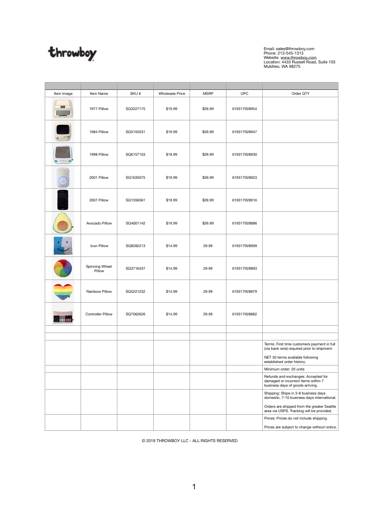 - download our line sheet