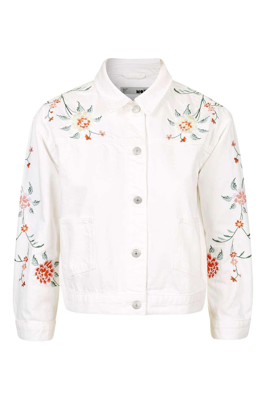 Embroidered Denim Jacket TOPSHOP