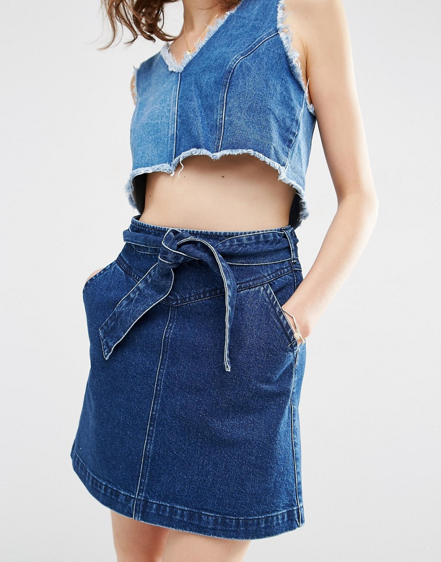 Mini Skirt with a Bow ASOS