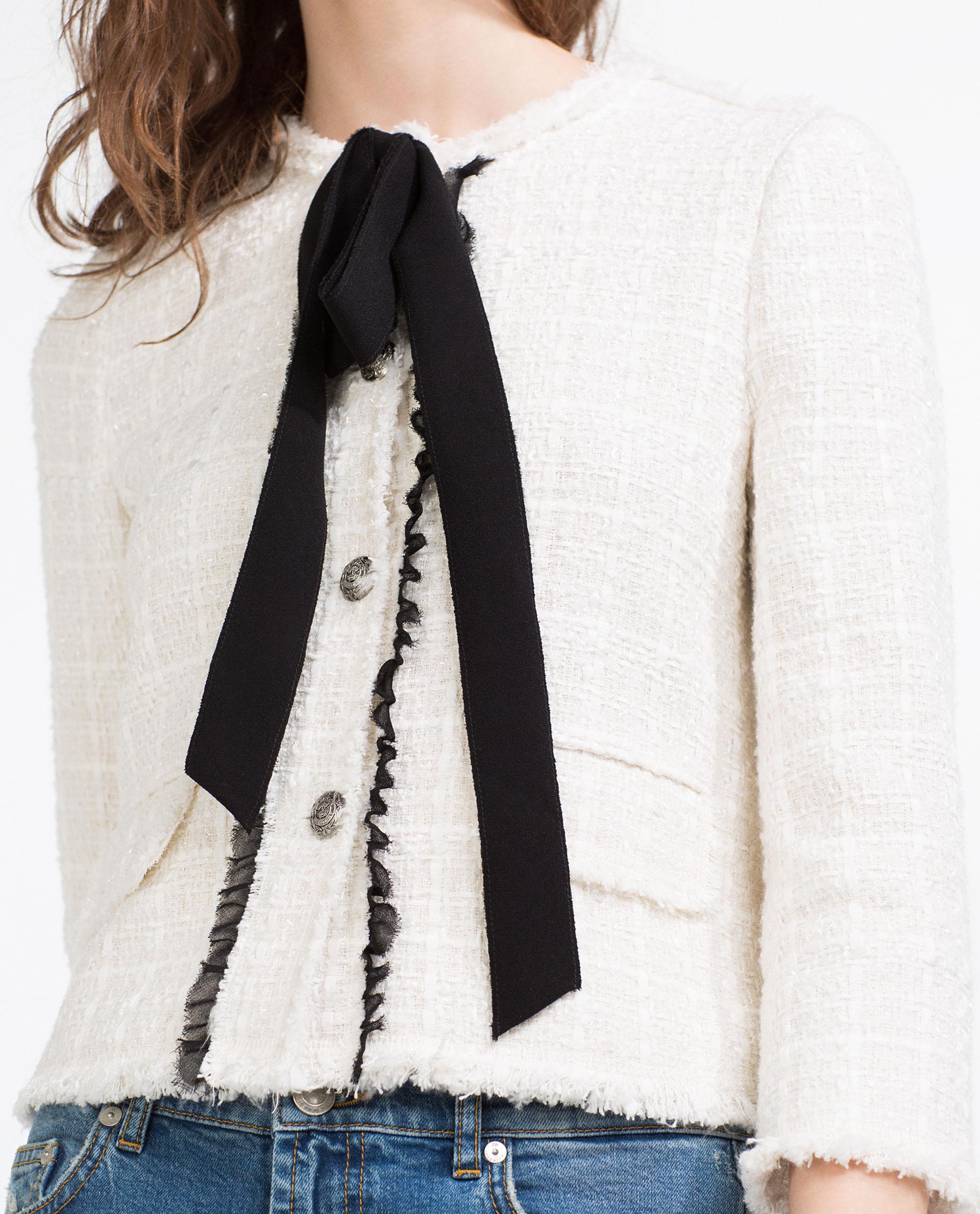 jacket with bow ZARA