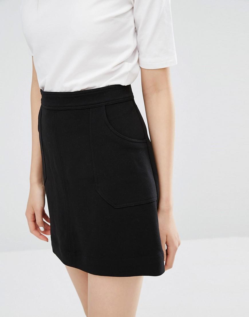 Monki A line pocket skirt