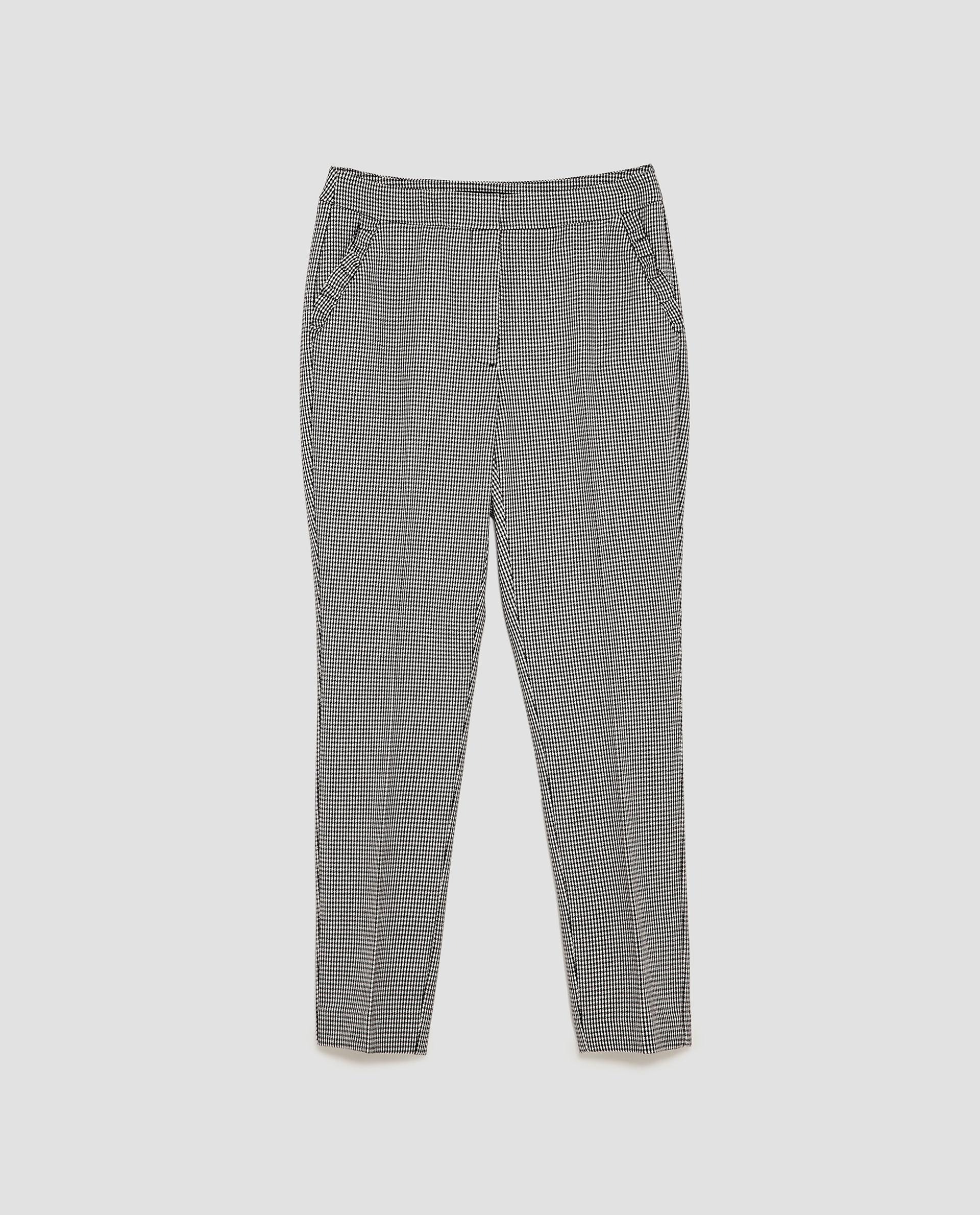 Zara Gingham Trousers
