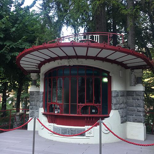 Billetkontor i Art Nouveau-stil