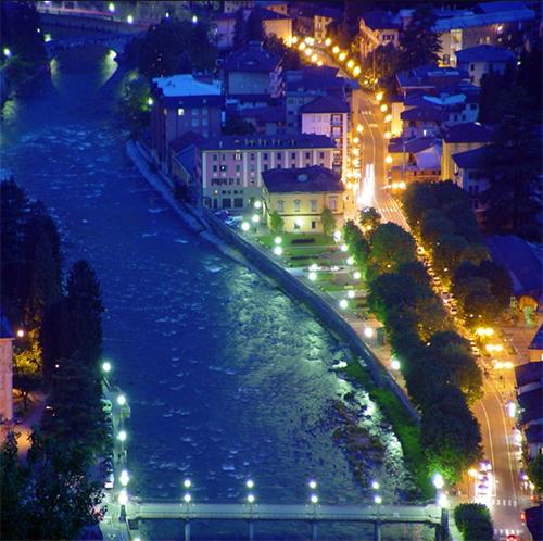San Pellegrino om aftenen