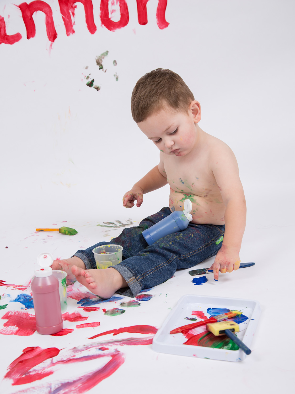 paint splash photo session