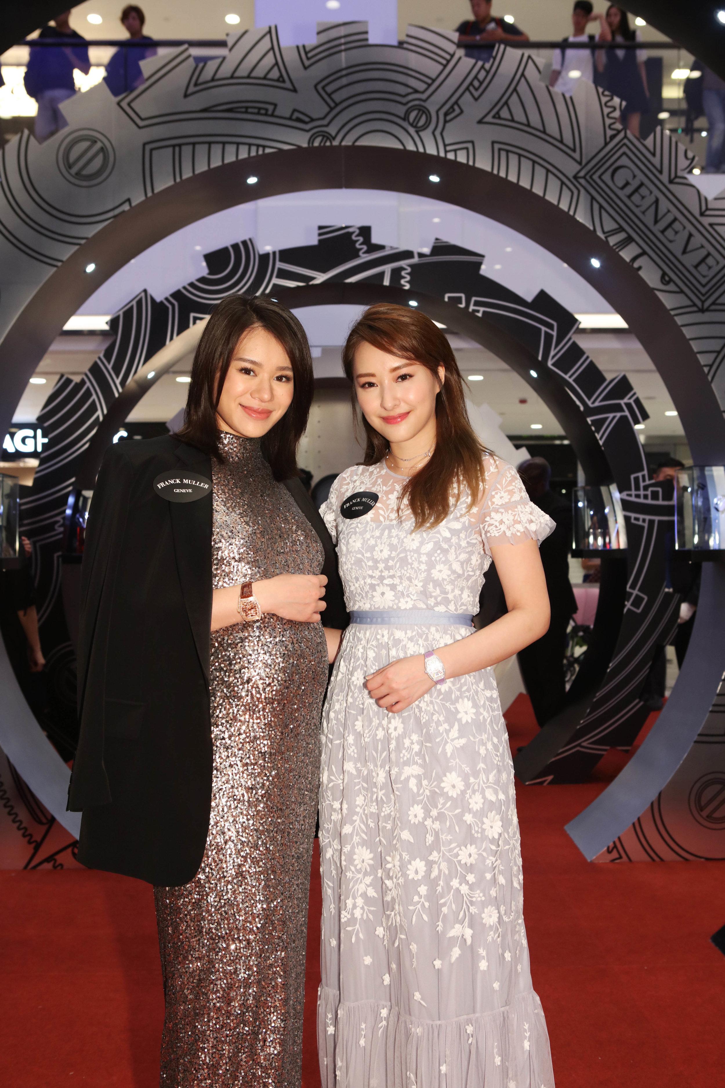 Myolie Wu in 7 Days Power Reserve Skeleton and Jeannie Chan in Vanguard Lady.jpg