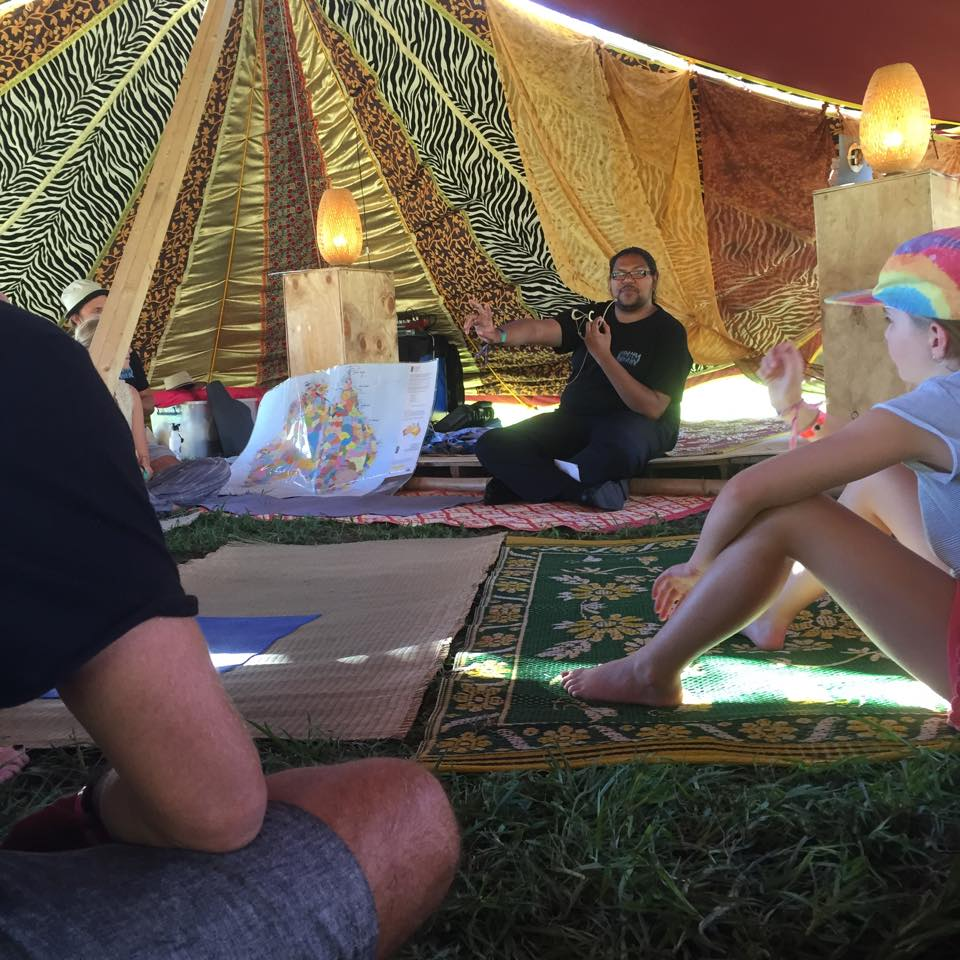 2015 Over the New Year Eve period YARN headed to run workshops at Lost Paradise Festival on Darkinjung Country (Glenworth Valley) exploring ideas culture, conversation, history and relationship building between cultures.