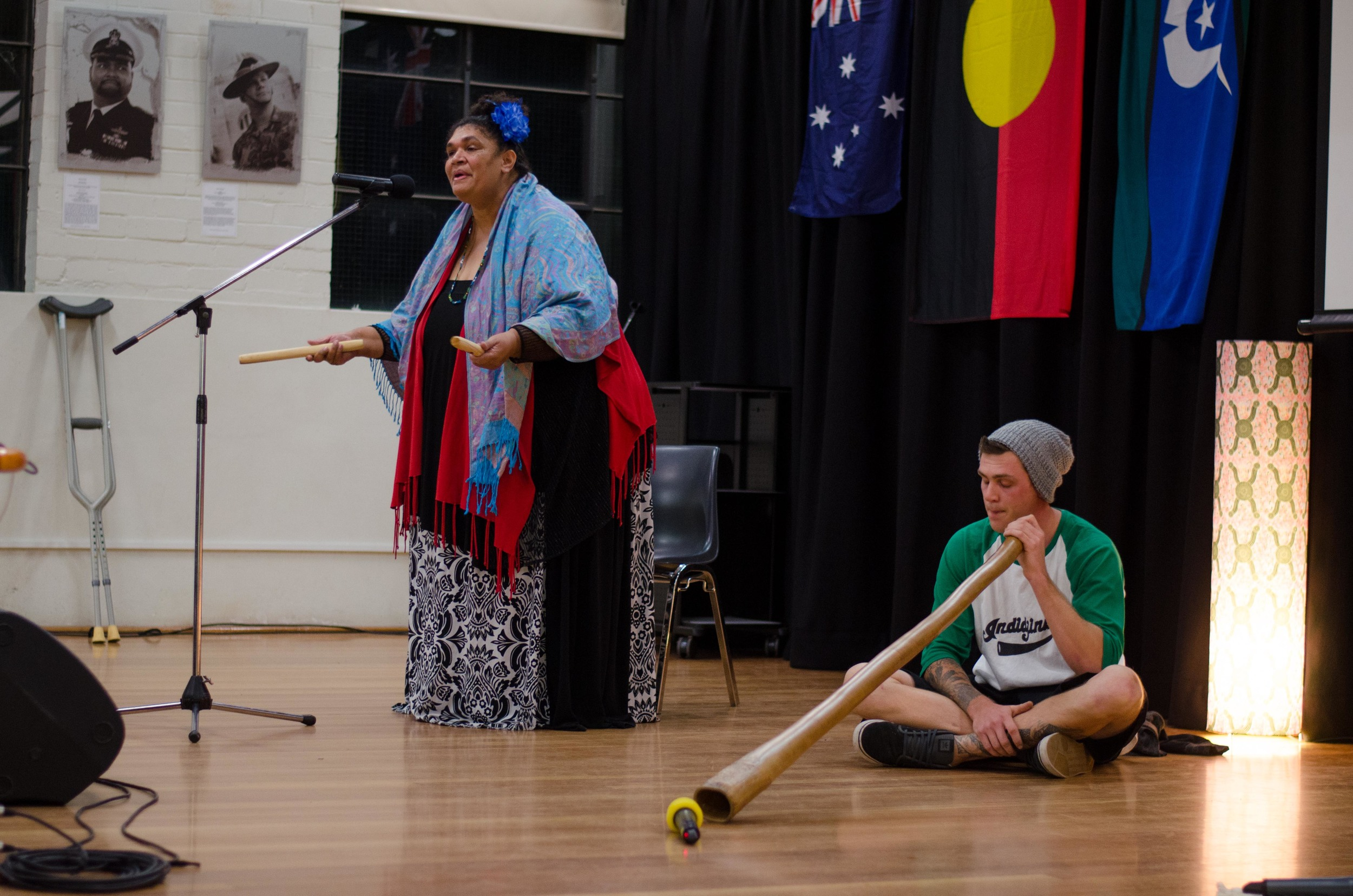June 3rd Mabo Day at Redfern Community Centre: Mirror Child (Luana Pitt) Opening Performance of her song Mother Earth, Didgeridoo by Jamie