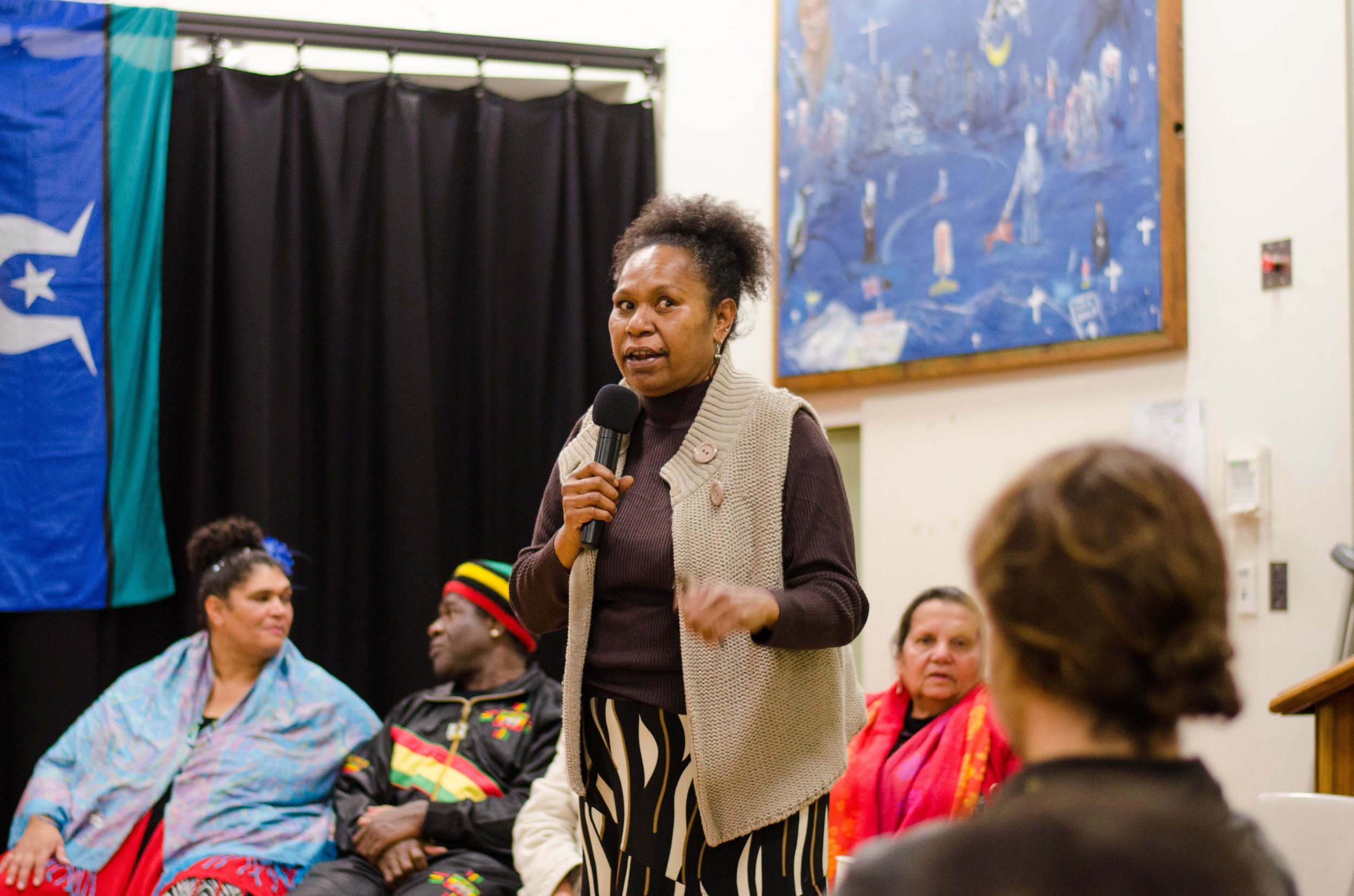 June 3rd Mabo Day at Redfern Community Centre: Aunty Agnes Ware sharing her story