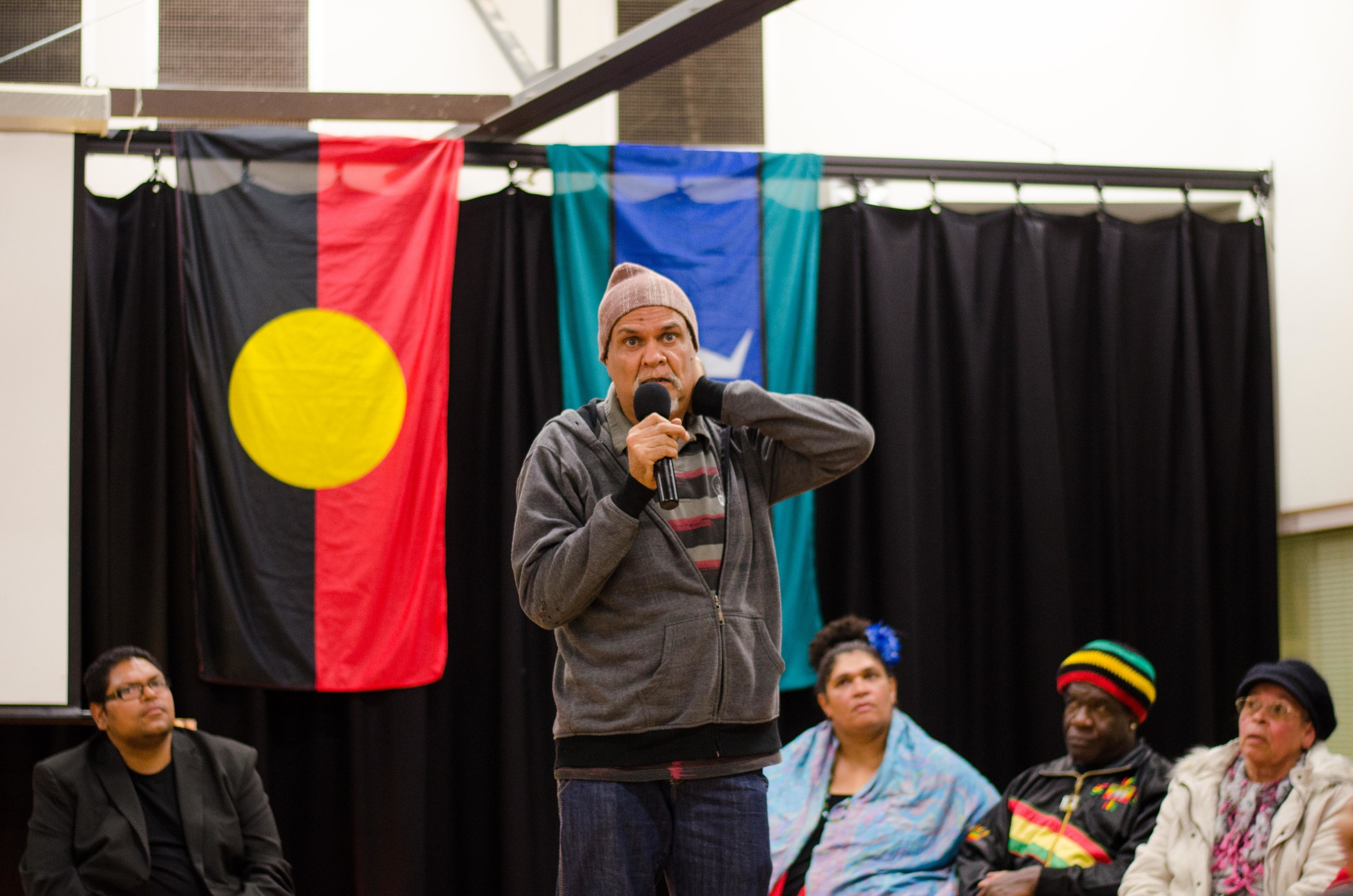 June 3rd Mabo Day at Redfern Community Centre: Wilo sharing his story