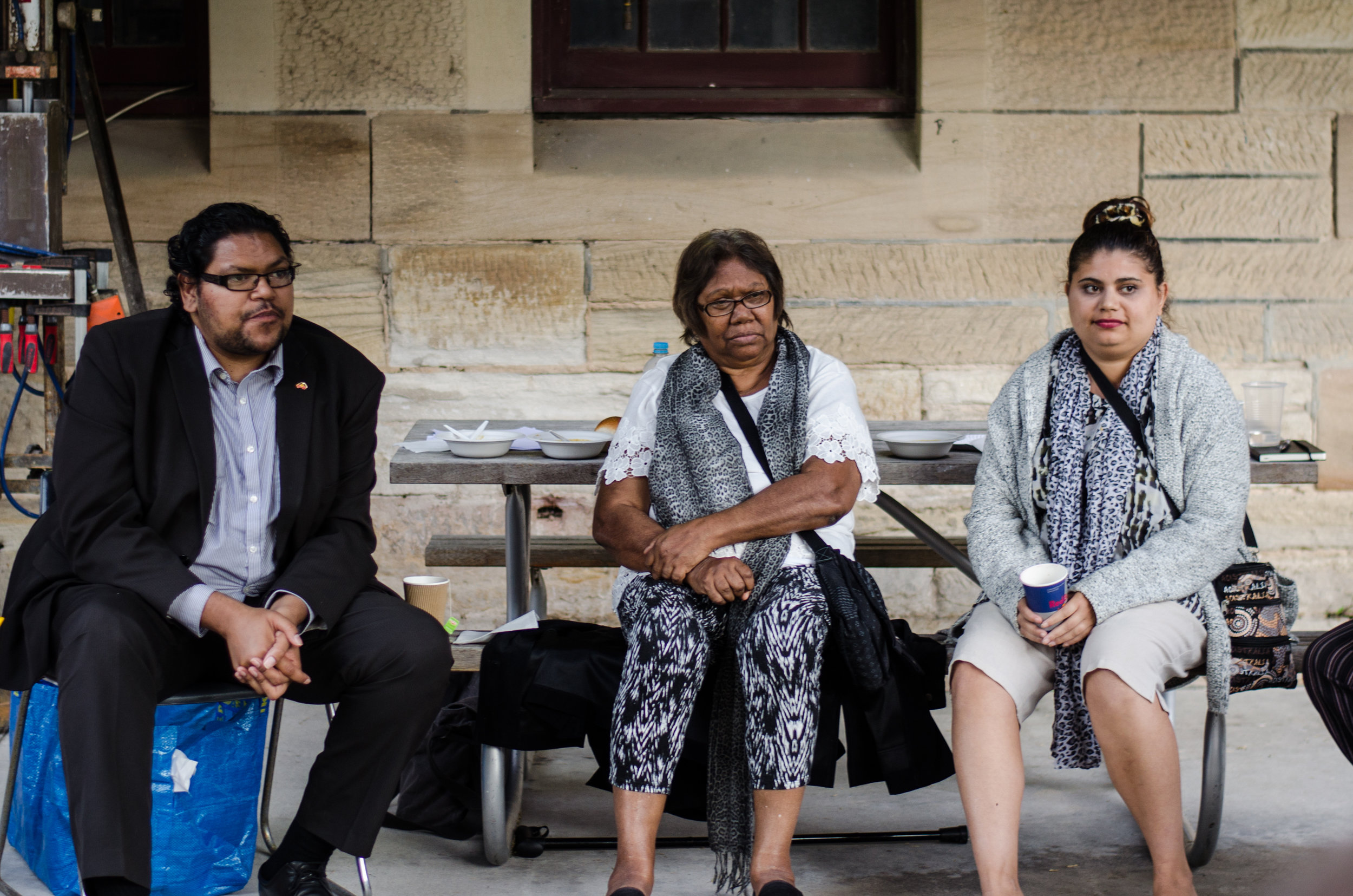 2016 November YARN Australia hosting 'Culture & Conversation' Event at Sydney College of the Arts Aboriginal Artist Aunty Linda Jackson pictured above